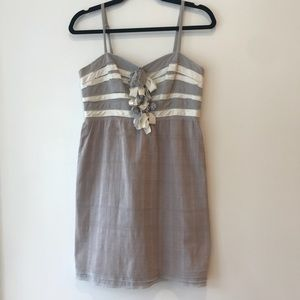 Anthropologie Grey Dress with Bow Detailing